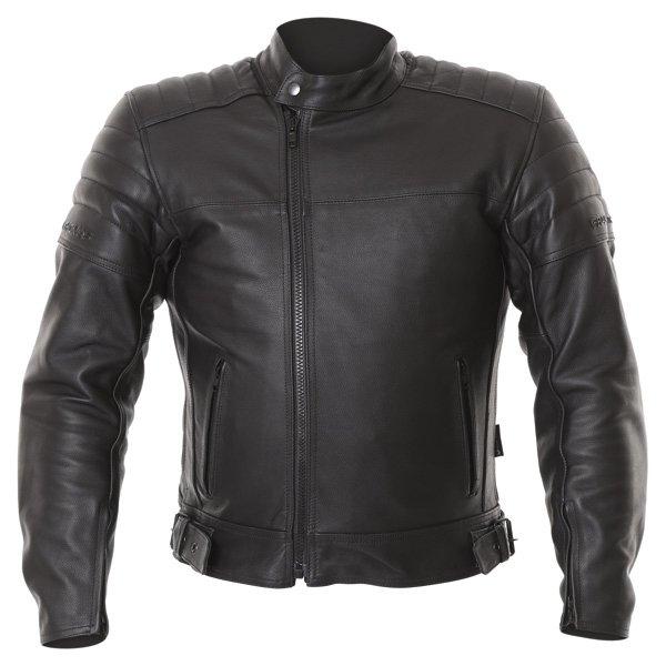 Frank Thomas FTL400 Black Leather Motorcycle Jacket Front