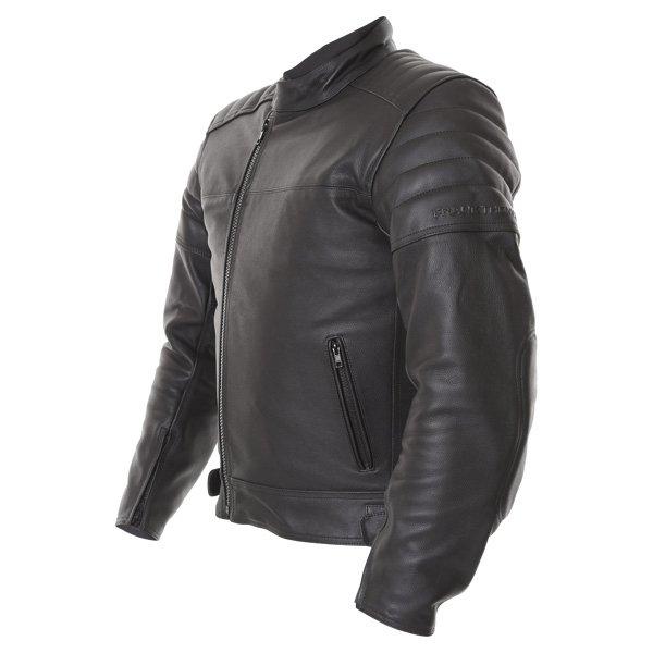 Frank Thomas FTL400 Black Leather Motorcycle Jacket Side