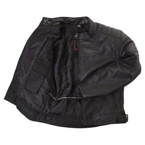 Frank Thomas FTL400 Black Leather Motorcycle Jacket Inside