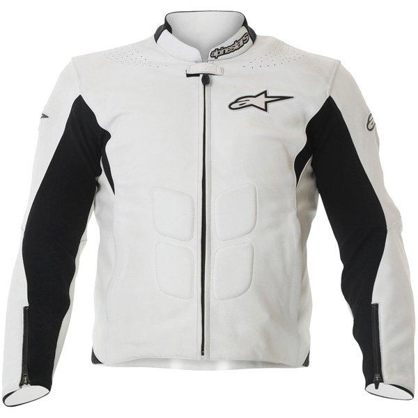 Alpinestars Sp-1 White Leather Motorcycle Jacket Front