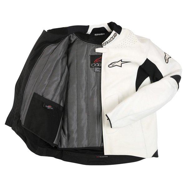Alpinestars Sp-1 White Leather Motorcycle Jacket Inside