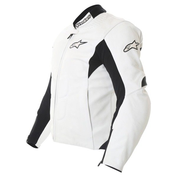 Alpinestars Sp-1 White Leather Motorcycle Jacket Side