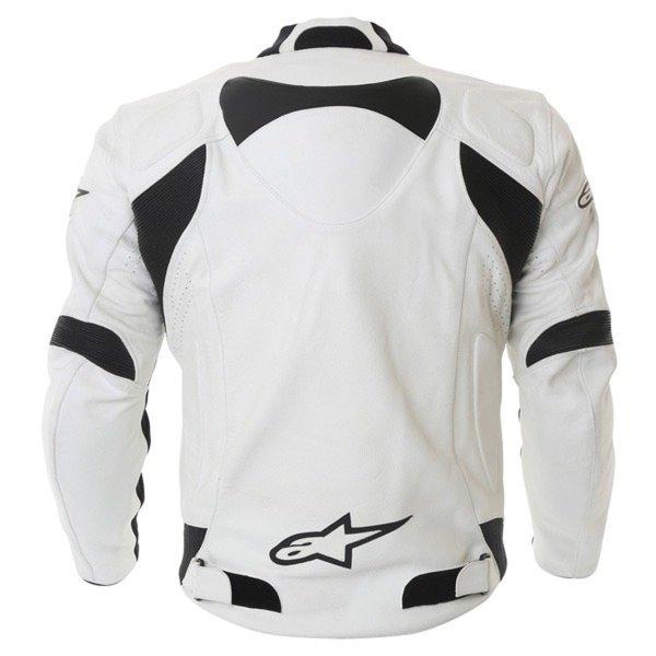 Alpinestars Sp-1 White Leather Motorcycle Jacket Back
