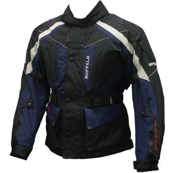 Buffalo Rocket Black Dark Blue Textile Motorcycle Jacket Front