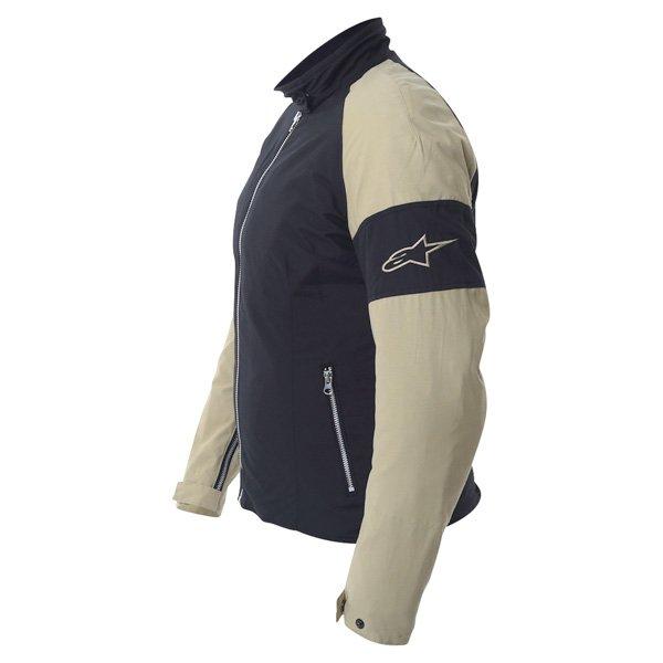 Alpinestars Sydney Ladies Black Brown Textile Motorcycle Jacket Side
