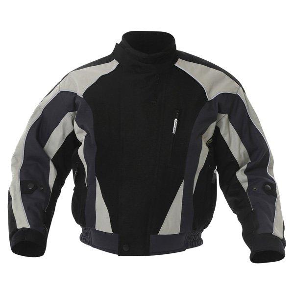 Buffalo Commando Mens Black Grey Textile Motorcycle Jacket Front