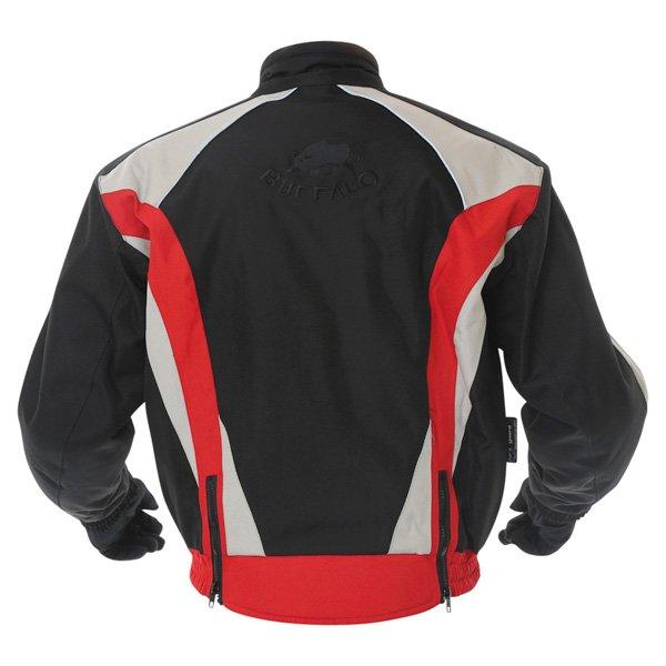 Buffalo Commando Mens Black Grey Red Textile Motorcycle Jacket Back