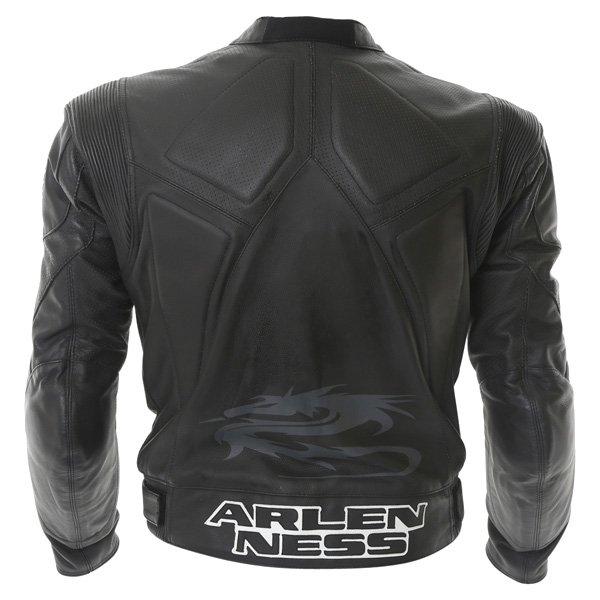 Arlen Ness Lj-5080 Black Leather Motorcycle Jacket Back