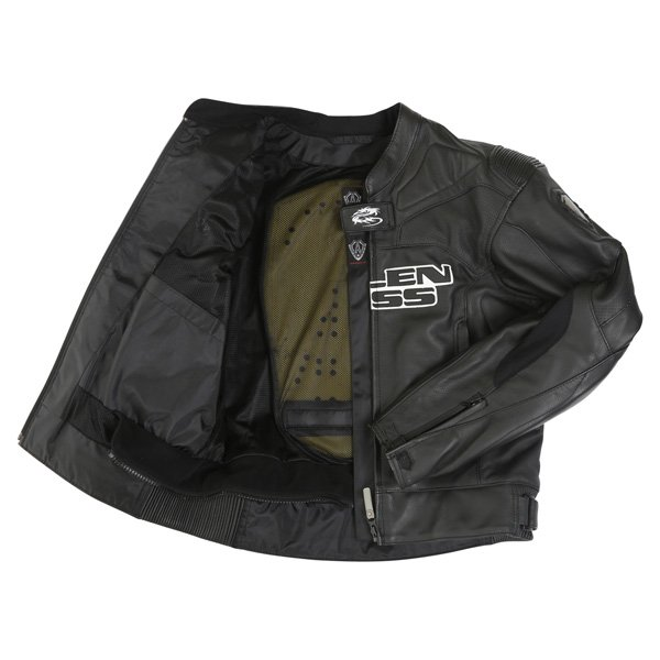 Arlen Ness Lj-5080 Black Leather Motorcycle Jacket Inside