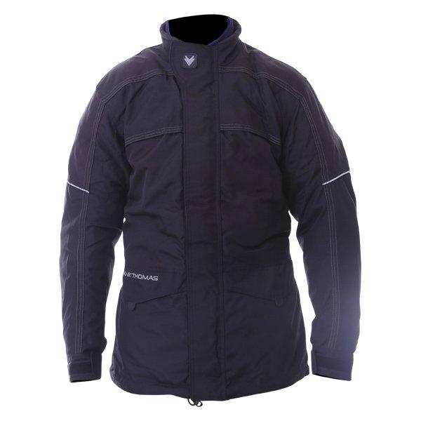 Frank Thomas FTW228 Aqua Jet Waterproof Black Motorcycle Jacket Front