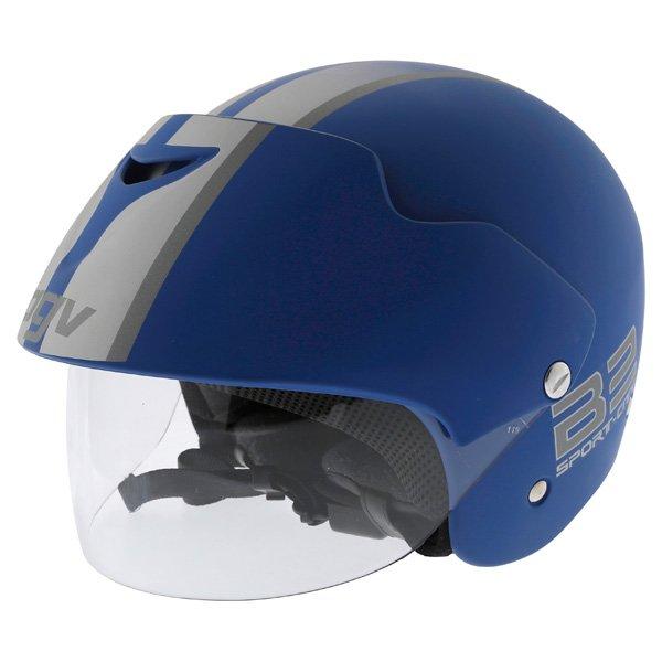 AGV Bali B2 Trendy Blue Silver Helmet Front Left