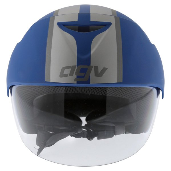 AGV Bali B2 Trendy Blue Silver Helmet Front