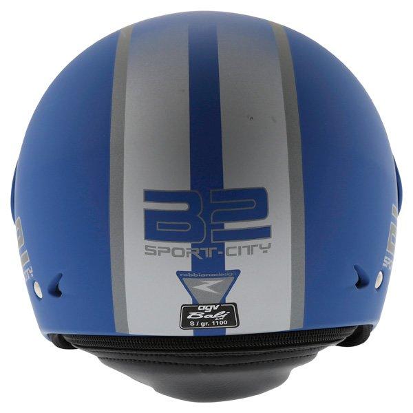 AGV Bali B2 Trendy Blue Silver Helmet Back