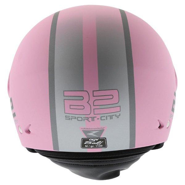AGV Bali B2 Trendy Pink Silver Helmet Back