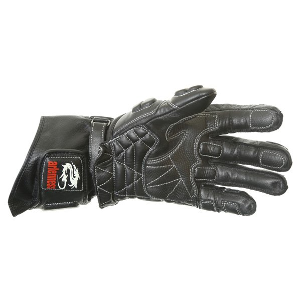 Arlen Ness G-6037 Black Red Motorcycle Gloves Palm