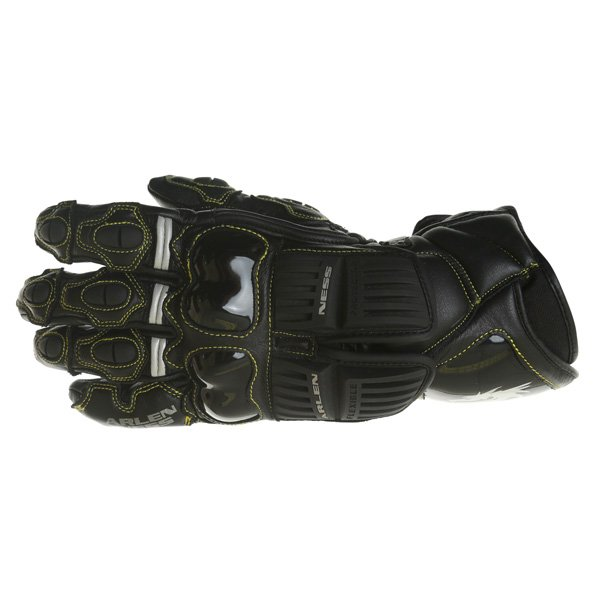 Arlen Ness G-7205 Black Motorcycle Gloves Back