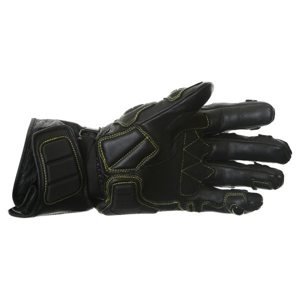 Arlen Ness G-7205 Black Motorcycle Gloves Palm