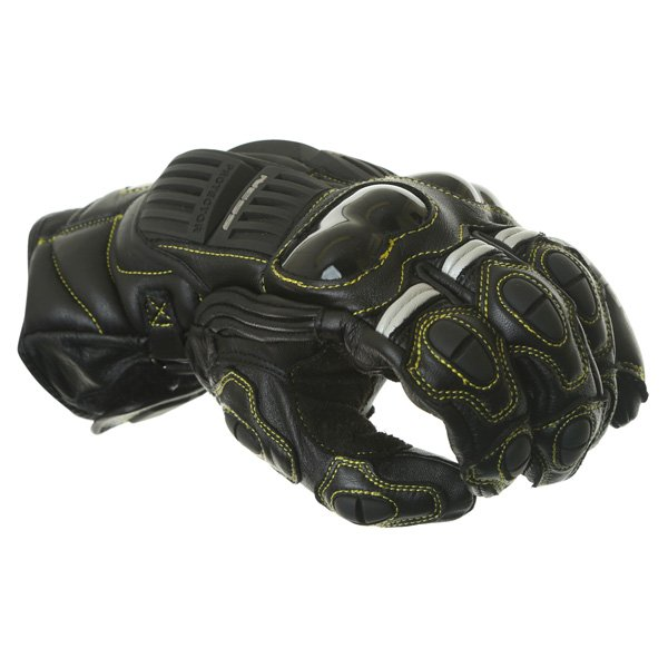 Arlen Ness G-7205 Black Motorcycle Gloves Knuckle
