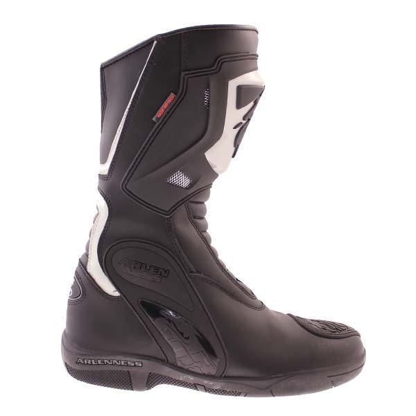 Arlen Ness BOT1068 Black Waterproof Motorcycle Boots Outside leg
