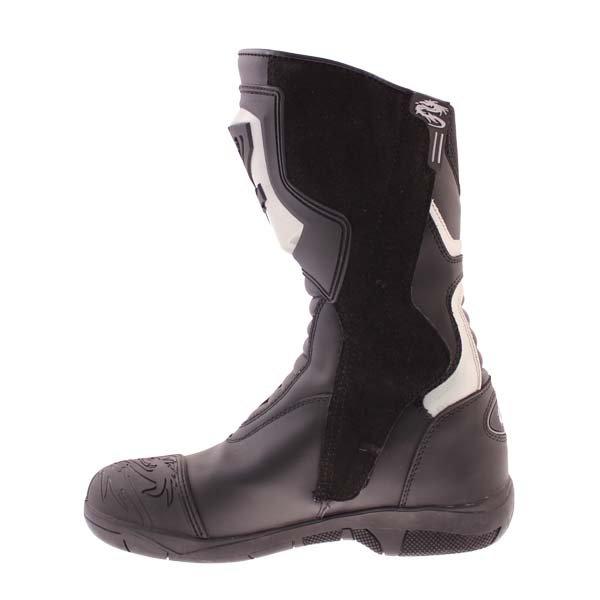 Arlen Ness BOT1068 Black Waterproof Motorcycle Boots Inside leg