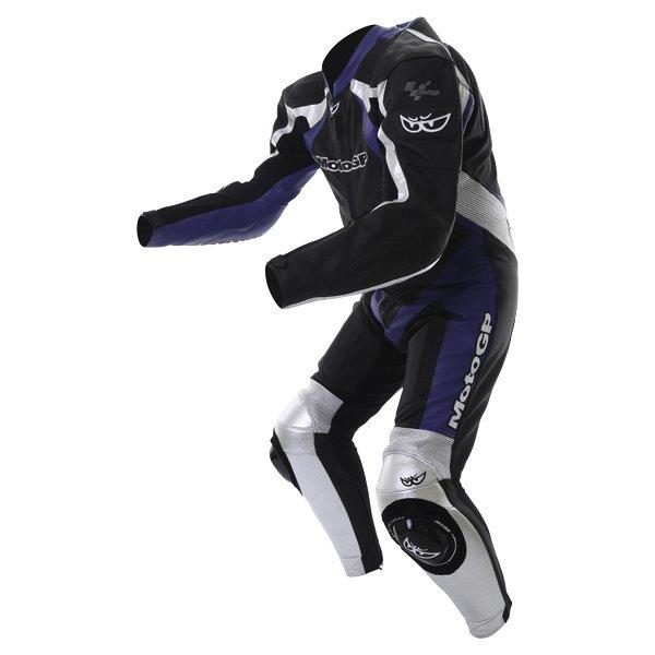 Berik Ls1-2964 Gp Mens Black Blue Leather Motorcycle Suit Racing crouch