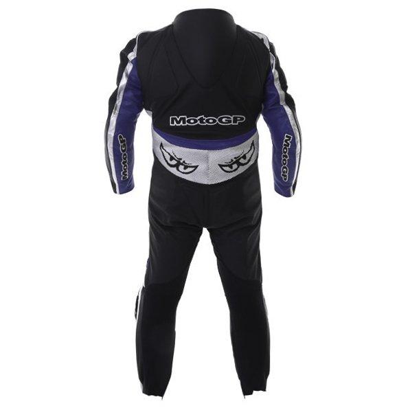 Berik Ls1-2964 Gp Mens Black Blue Leather Motorcycle Suit Back