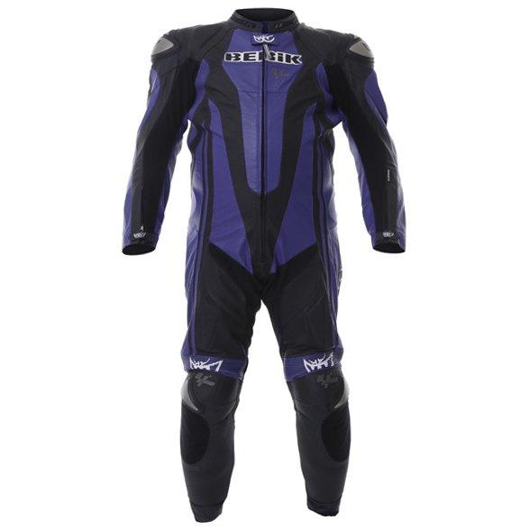 Berik Ls1-4242 Kang Titan Mens Black Blue Leather Motorcycle Suit Front