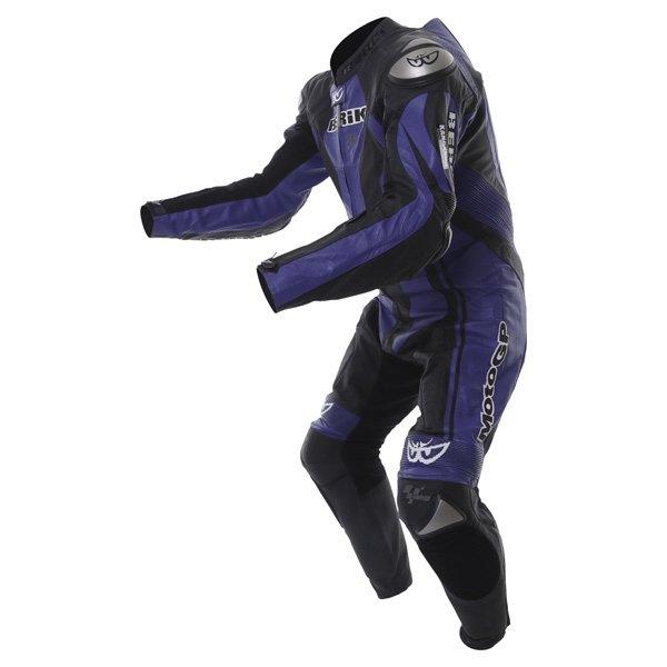 Berik Ls1-4242 Kang Titan Mens Black Blue Leather Motorcycle Suit Racing crouch