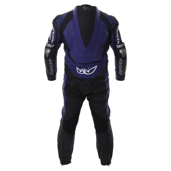 Berik Ls1-4242 Kang Titan Mens Black Blue Leather Motorcycle Suit Back