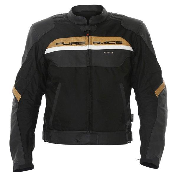 Malibu Jacket Black Gold Discount Motorcycle Gear