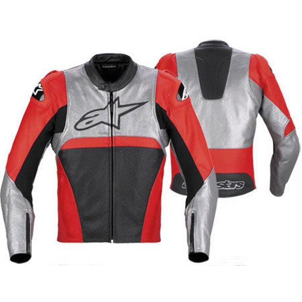 Alpinestars Vector Red Leather Motorcycle Jacket