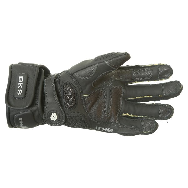 BKS BKG001 Black Motorcycle Gloves Palm