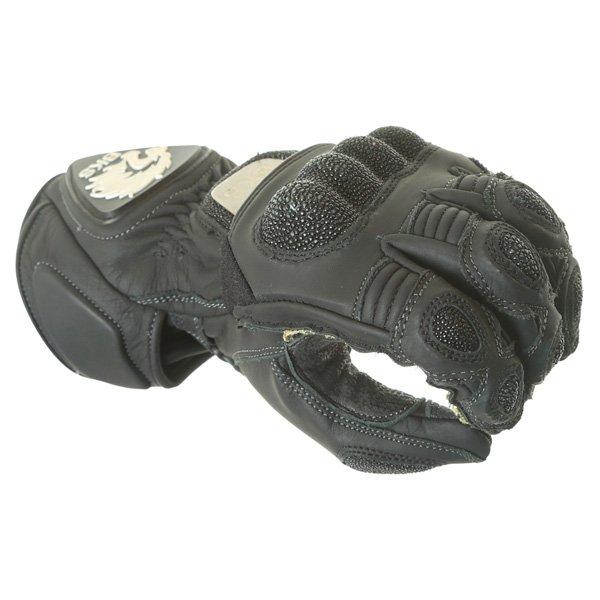 BKS BKG001 Black Motorcycle Gloves Knuckle