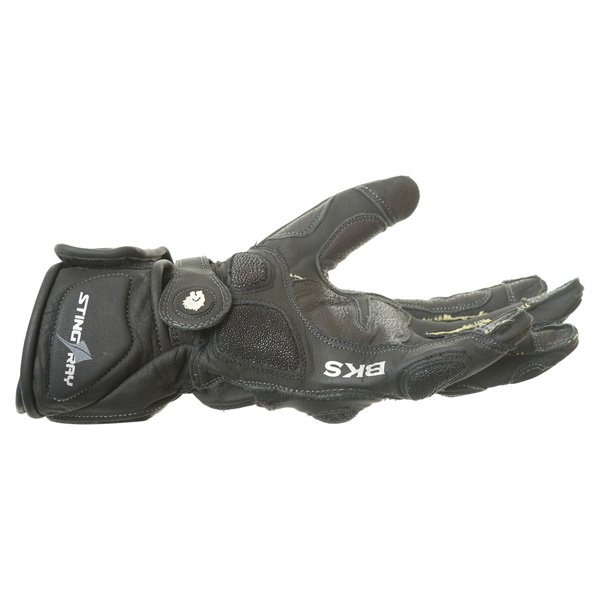 BKS BKG001 Black Motorcycle Gloves Little finger side