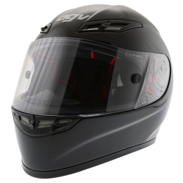 AGV GP Tech Black Helmet Front Left