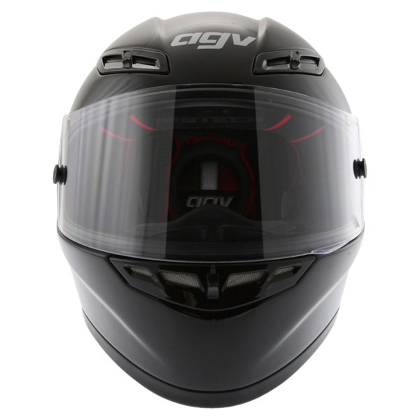 AGV GP Tech Black Helmet Front