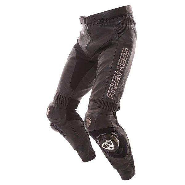 Arlen Ness LP-8314-An Mens Black Leather Motorcycle Jeans Riding crouch