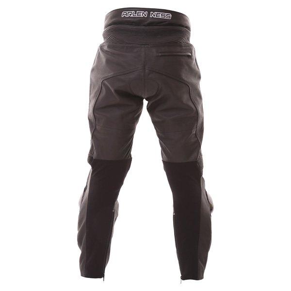 Arlen Ness LP-8314-An Mens Black Leather Motorcycle Jeans Rear
