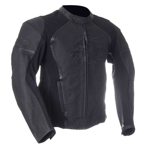 BKS BKS003 Brooklands Black Leather Motorcycle Jacket Front