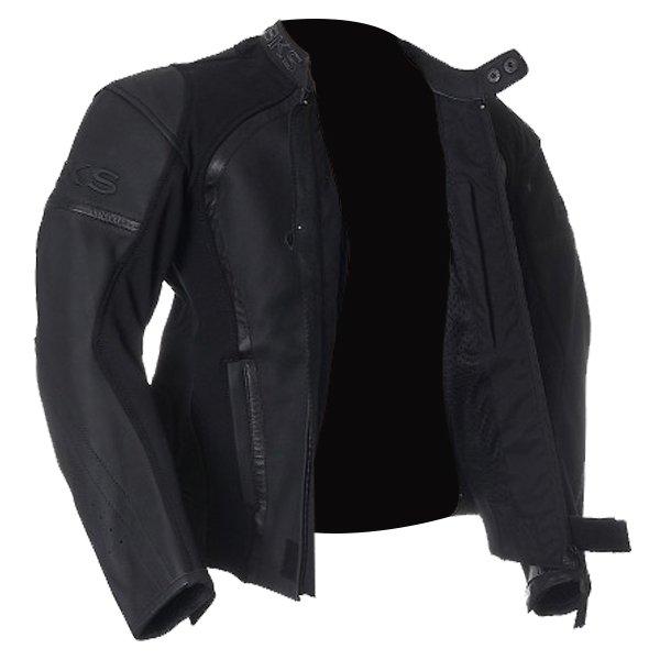 BKS BKS003 Brooklands Black Leather Motorcycle Jacket Side