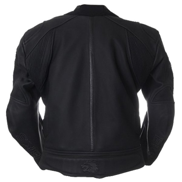 BKS BKS003 Brooklands Black Leather Motorcycle Jacket Back