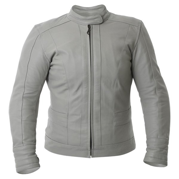 BKS BKS008 Windsor Ladies Cream Leather Motorcycle Jacket Front