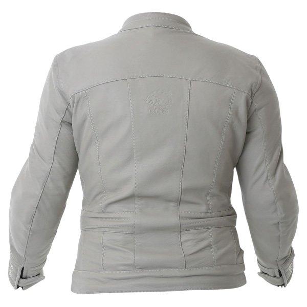BKS BKS008 Windsor Ladies Cream Leather Motorcycle Jacket Back