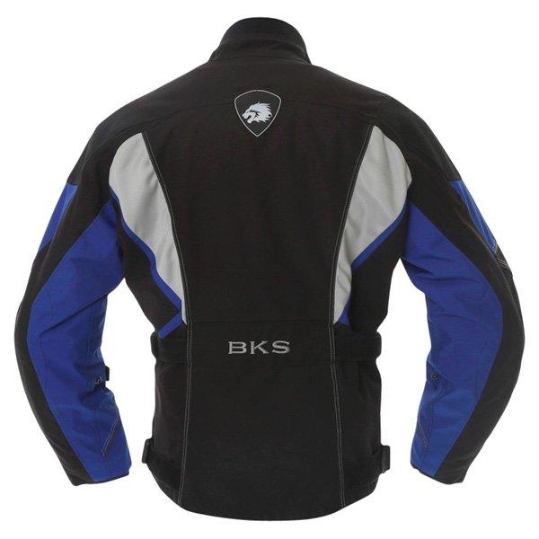 BKS BKW001 Gloucester Mens Black Grey Blue Textile Motorcycle Jacket Back