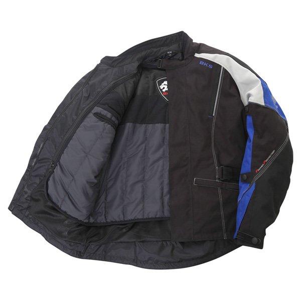 BKS BKW001 Gloucester Mens Black Grey Blue Textile Motorcycle Jacket Inside