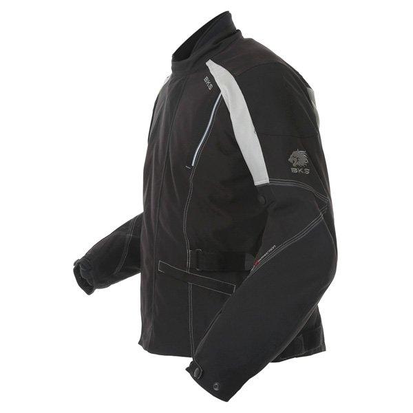 BKS BKW001 Gloucester Mens Black Grey Textile Motorcycle Jacket Side