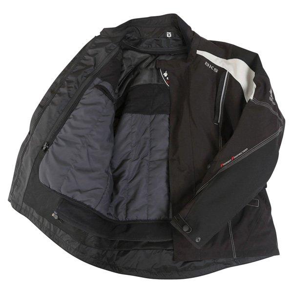 BKS BKW001 Gloucester Mens Black Grey Textile Motorcycle Jacket Inside