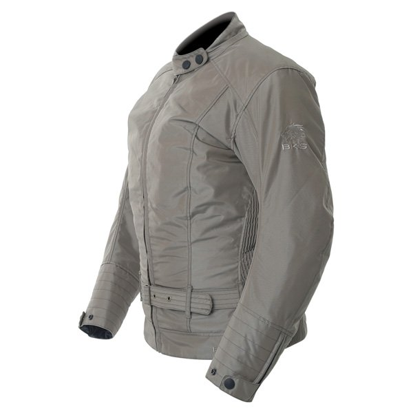 BKS BKW005 Warwick Ladies Taupe Waterproof Textile Motorcycle Jacket Side