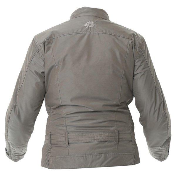 BKS BKW005 Warwick Ladies Taupe Waterproof Textile Motorcycle Jacket Back