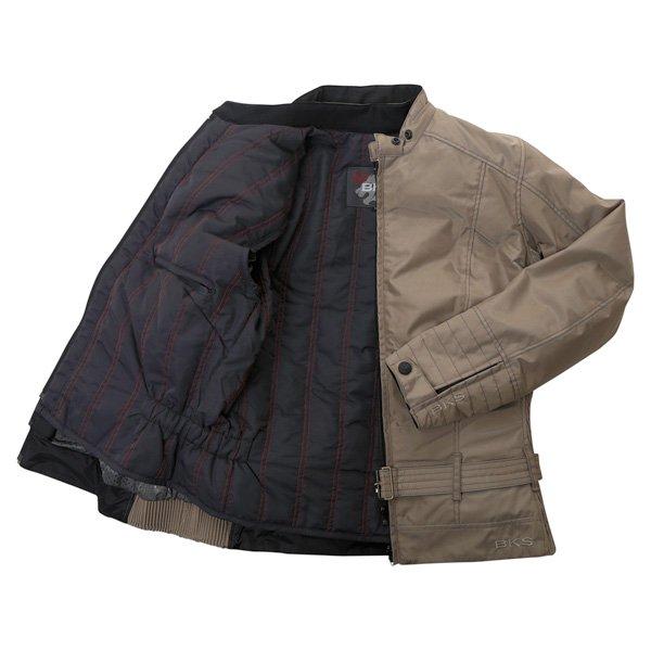 BKS BKW005 Warwick Ladies Taupe Waterproof Textile Motorcycle Jacket Inside